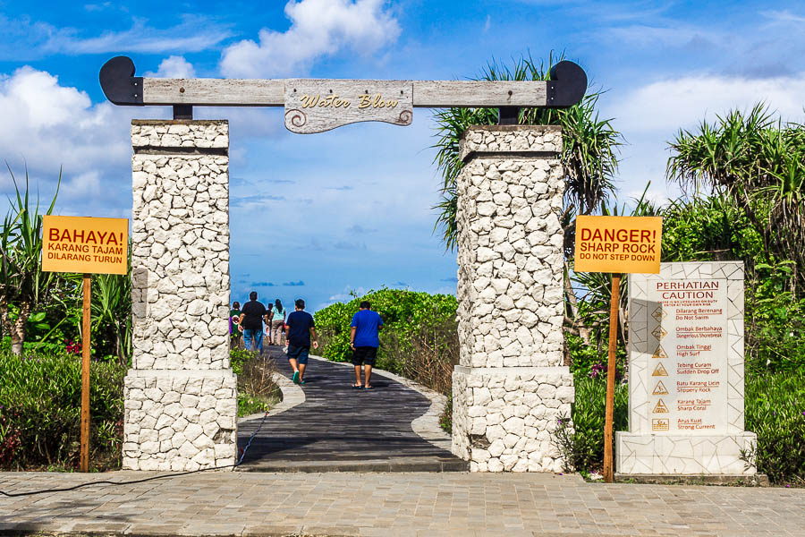 The entrance to Water Blow, Nusa Dua Beach, Courtyard Beach Club, BTDC, Pulau Peninsula Island, Bali