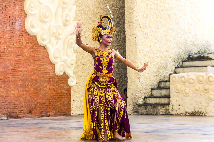 Balinese Dance in the Amphitheater at Garuda Wisnu Kencana GWK, Bali