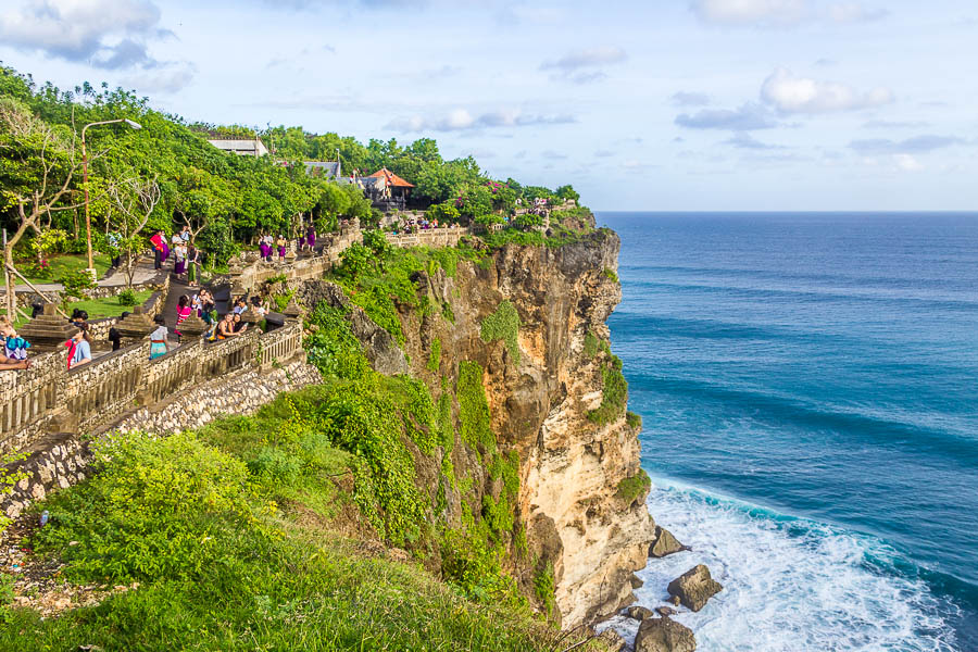 Cliff at Uluwatu Temple, Bali