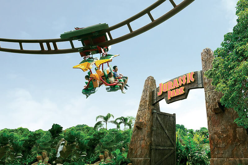 USS ride at Lost World - Canopy Flyer