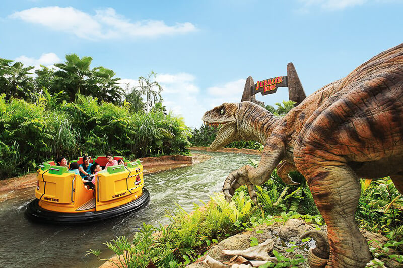 USS ride at Lost World - Jurassic Park - Rapids Adventure