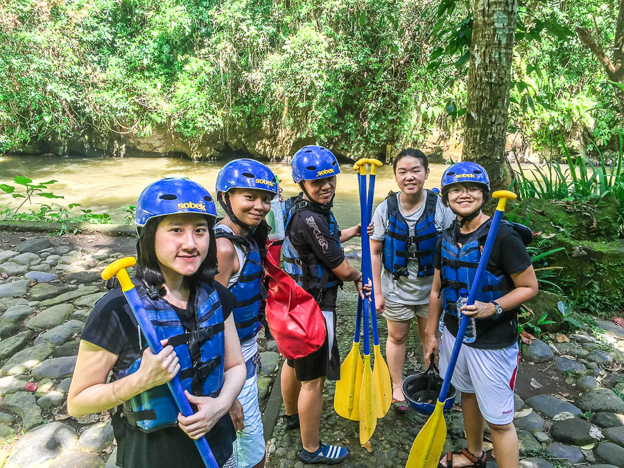 Before boarding - Sobek Rafting at Ayung River, Ubud, Bali