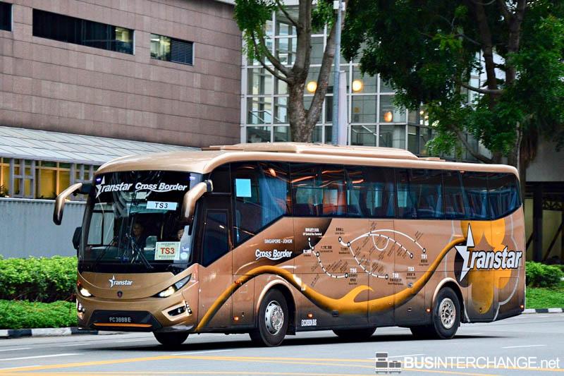 Bus TS3 - Singapore to Johor Bahru