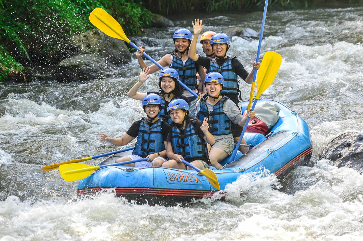 Rafting In Ayung River Ubud Bali Trevallog