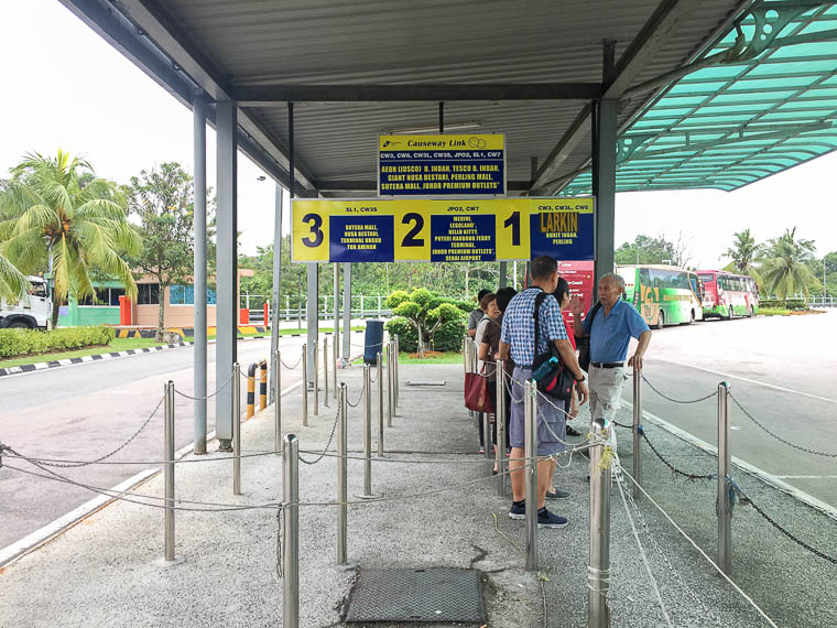 Travel from Singapore to Johor Bahru by Bus