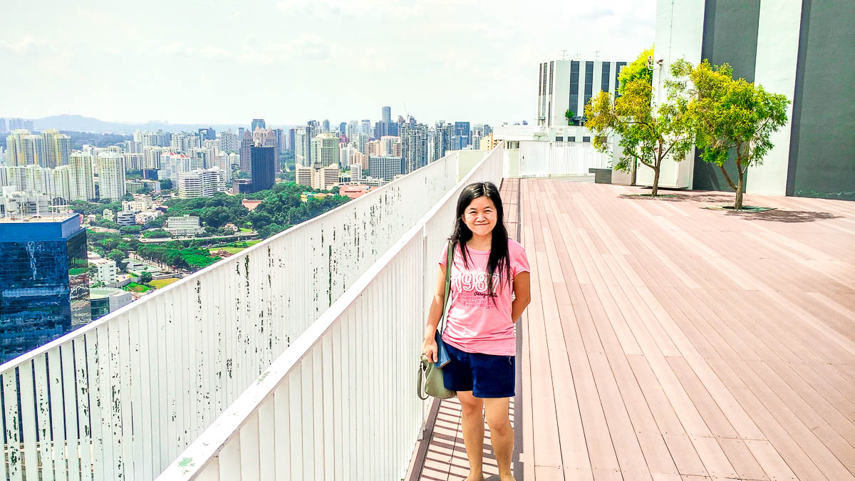 Being on a sky garden in an award-winning residential apartment and surrounded by skyscrapers felt surreal to me, Pinnacle at Duxton