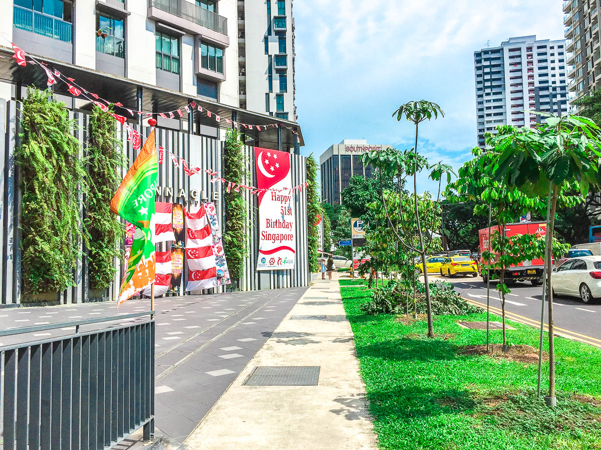 You will then see the sign of Pinnacle @ Duxton. But keep walking straight, the entrance for Block 1G is further ahead.