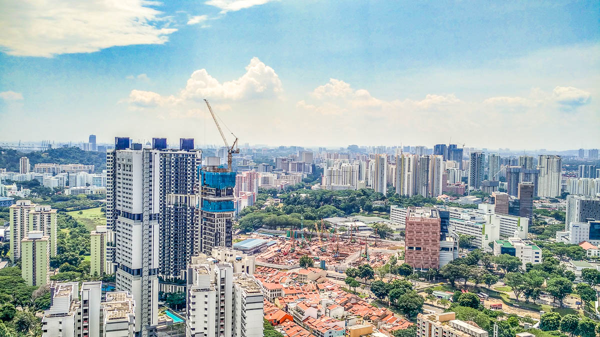 Singapore's skyline view of SGH and Outram Park neighbourhood