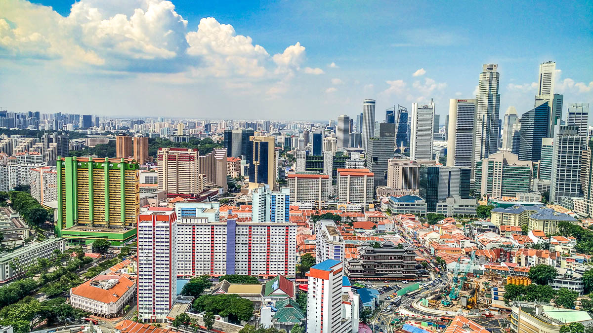 Singapore's skyline view of Chinatown