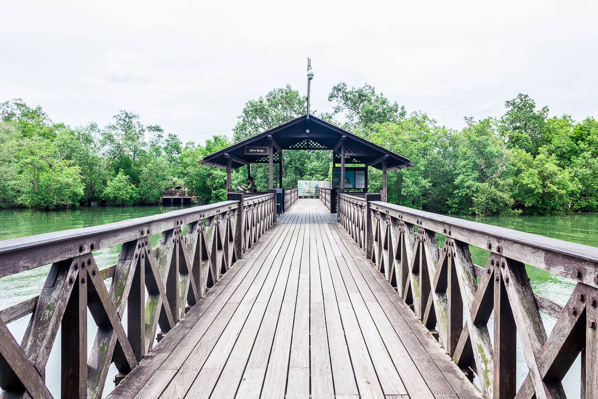 Main bridge, Migratory Bird Trail, Sungei Buloh Wetland Reserve, Kranji Countryside, Singapore