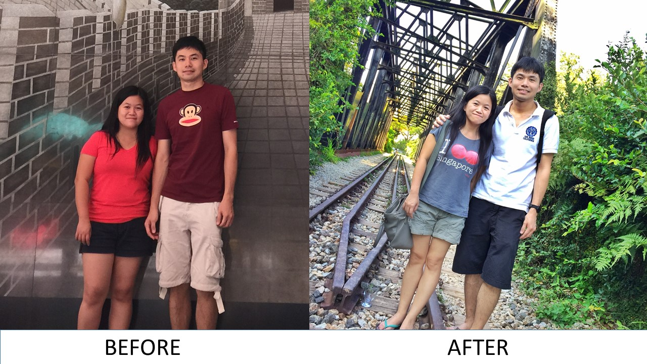 Before and After photo, how i lost weight with slow carb diet