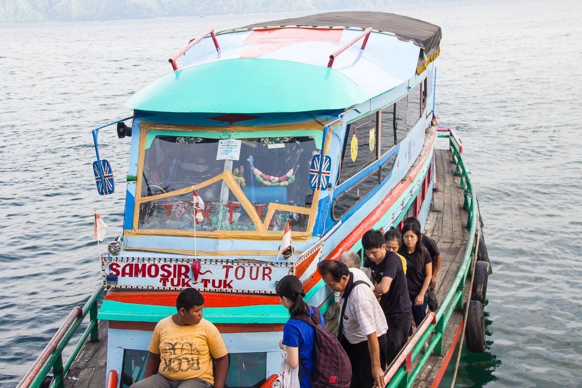 Lake Toba Samosir Tuk Tuk ferry