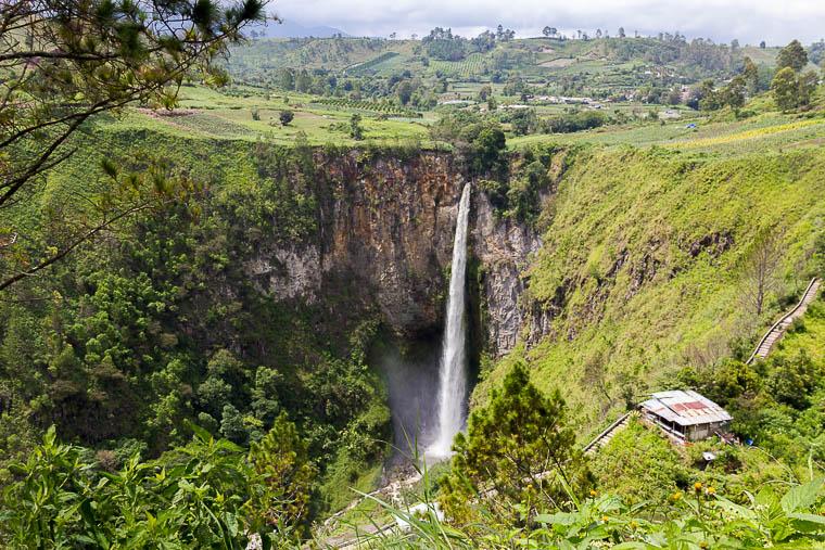 Sipiso-piso waterfall, Tongging, Lake Toba, North Sumatera