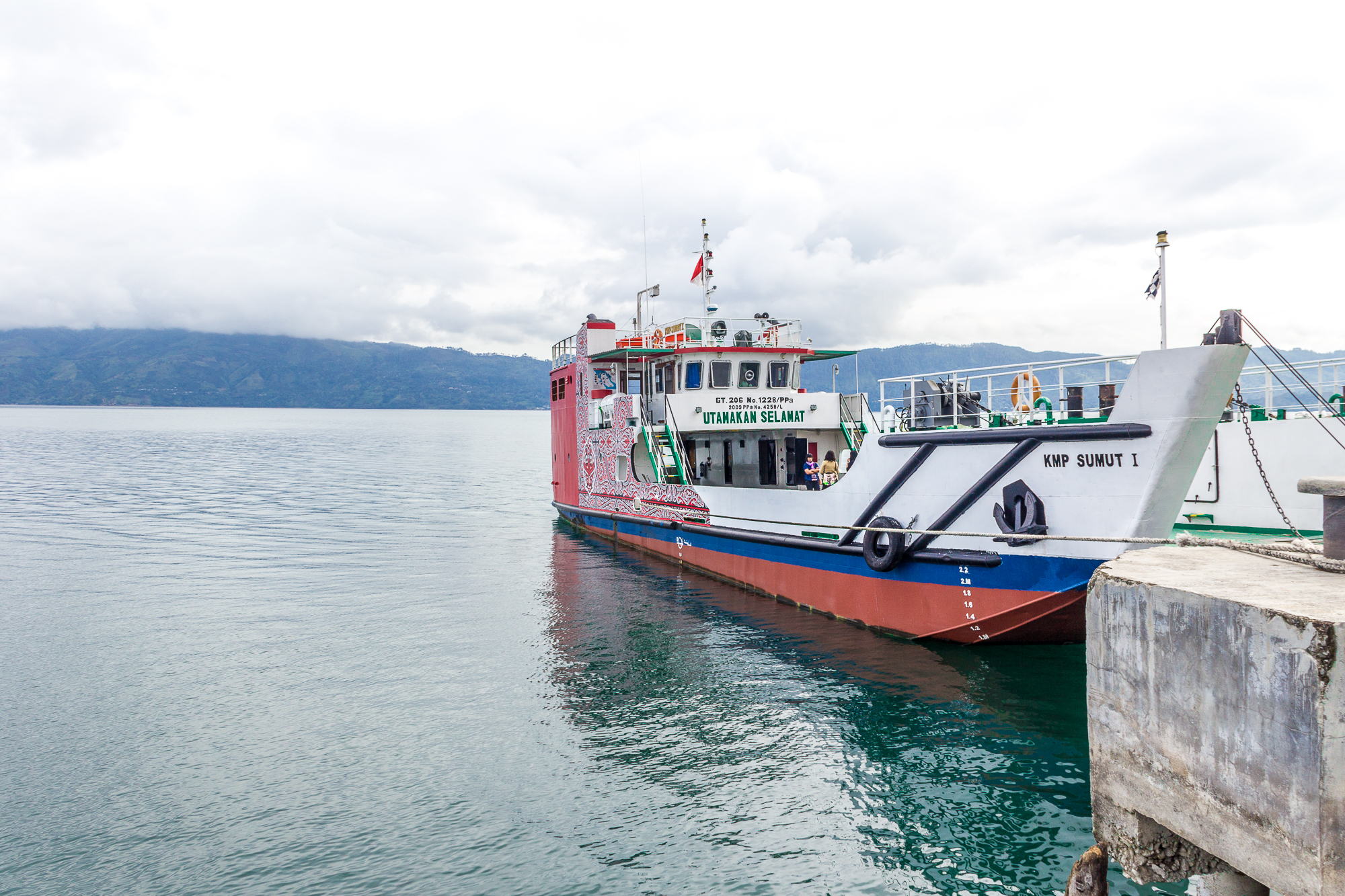 Samosir car Ferry, from Simanindo to Tigaras