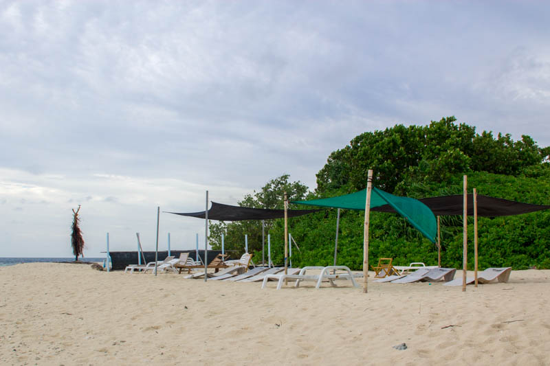 Bikini beach at Hangnaameedhoo