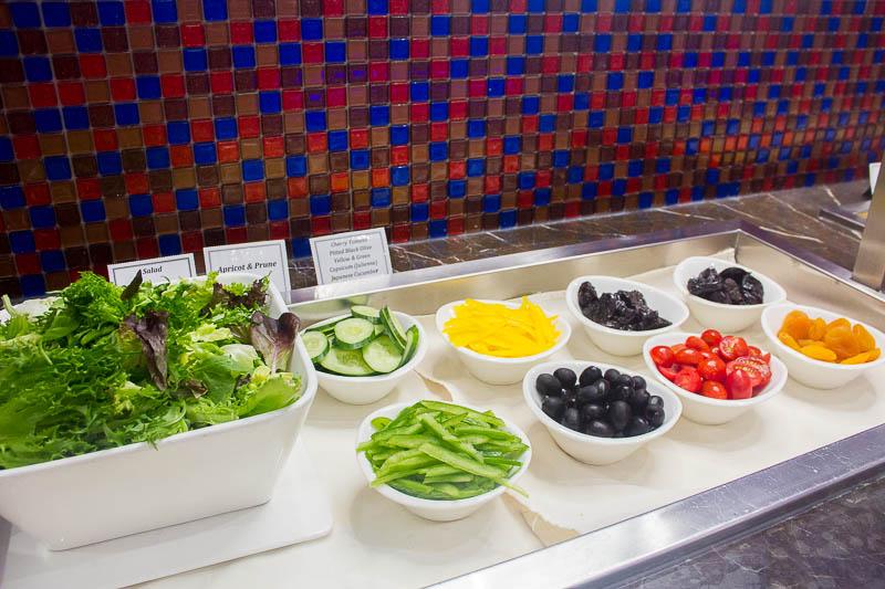 sats premier lounge changi terminal 2 - salad