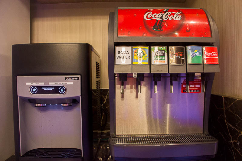 sats premier lounge changi terminal 2 - soft drinks