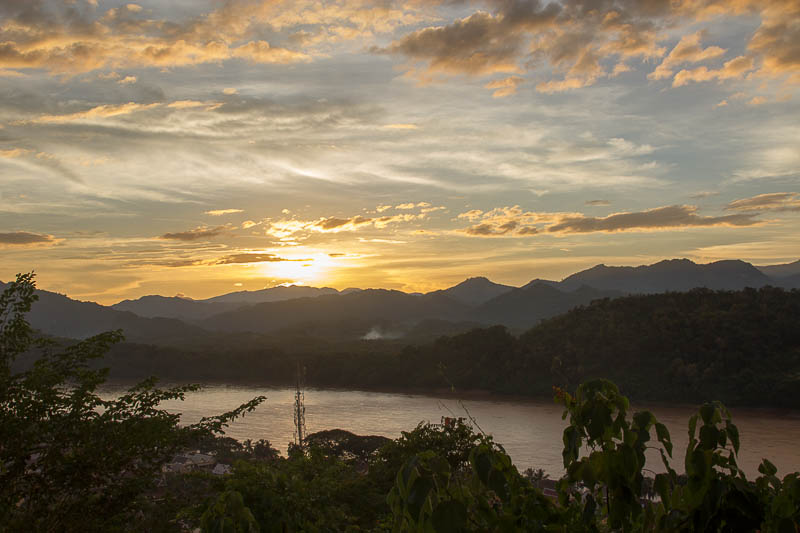 Luang Prabang Things to Do - Watch sunset mount phousi
