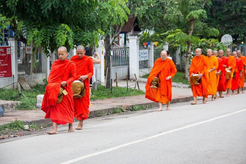 Luang Prabang Things to Do - alms giving ceremony