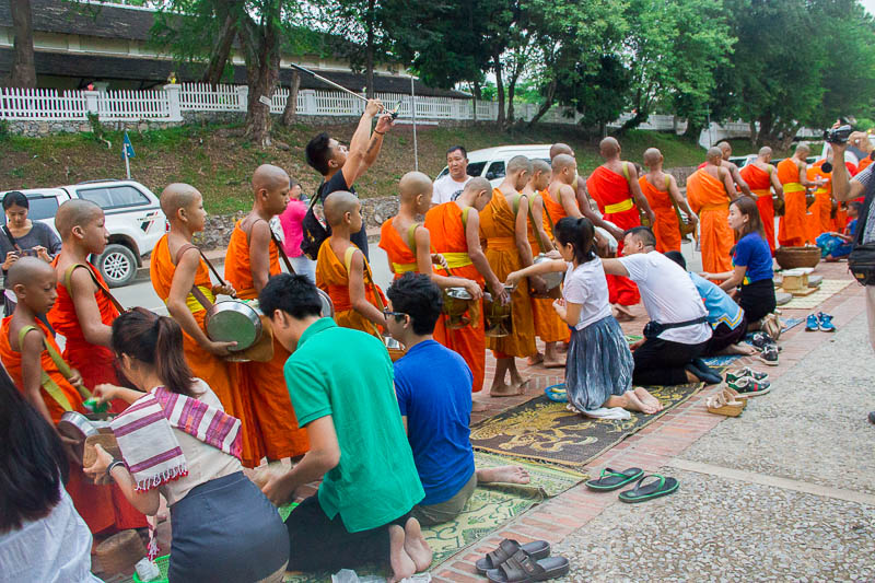 Luang Prabang Things to Do - irresponsible traveller alms giving ceremony