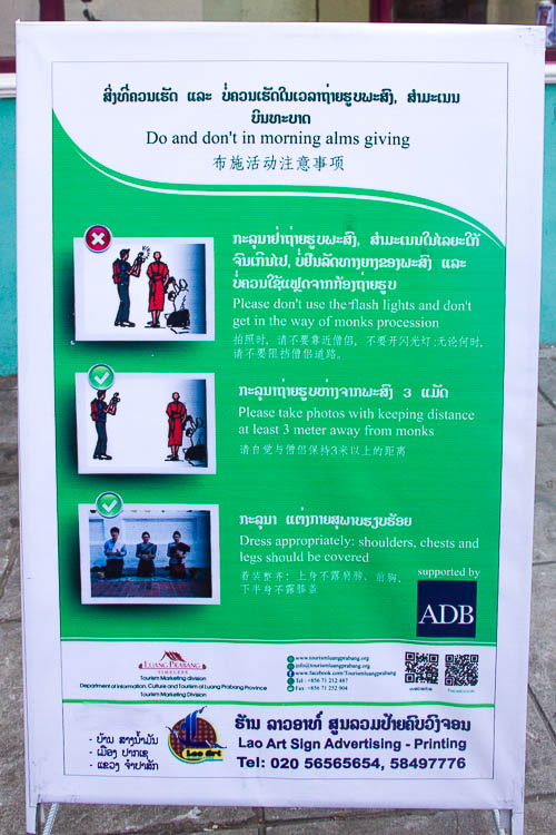 Luang Prabang Things to Do - alms giving ceremony rules
