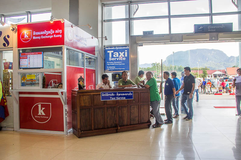 Luang Prabang International Airport - taxi counter