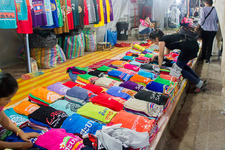 Luang Prabang Night Market - clothes