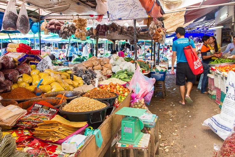 Luang Prabang Phosi Market - produce