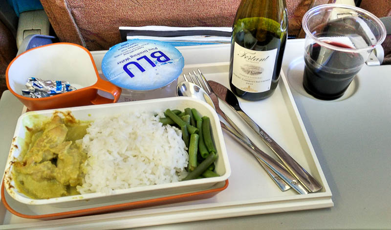 SilkAir Singapore to Luang Prabang Flight Meal