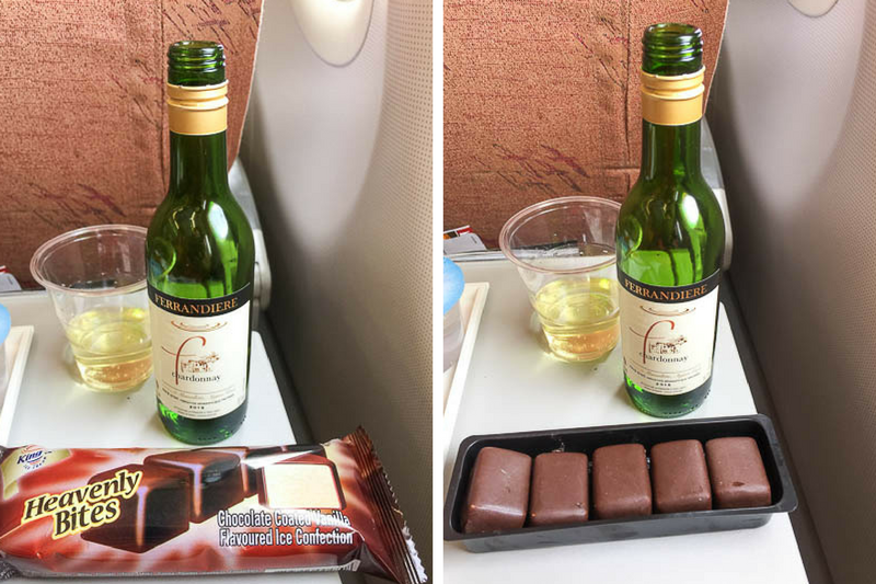 SilkAir Singapore to Luang Prabang Flight - Wine, ice cream