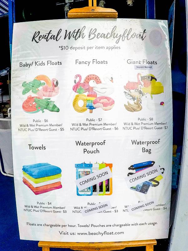 Wild Wild Wet Waterpark Singapore - Float / tube rental
