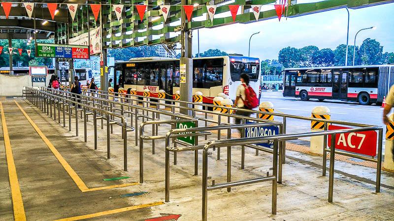 Bus AC7 from yishun singapore to johor bahru