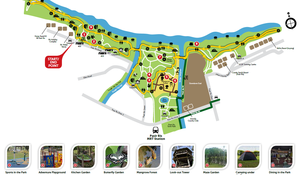 Staycation at D Resort Downtown East - pasir ris park map