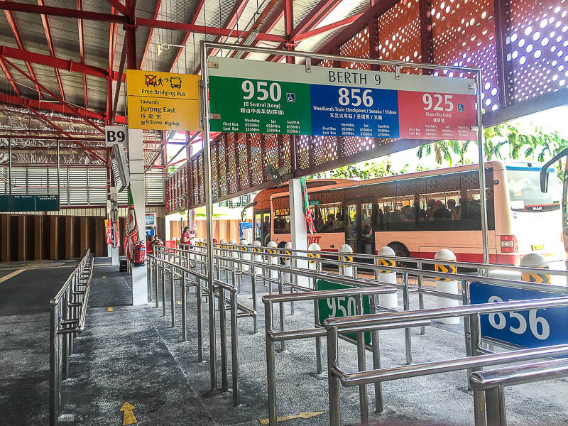 Bus 950 from woodlands singapore to johor bahru