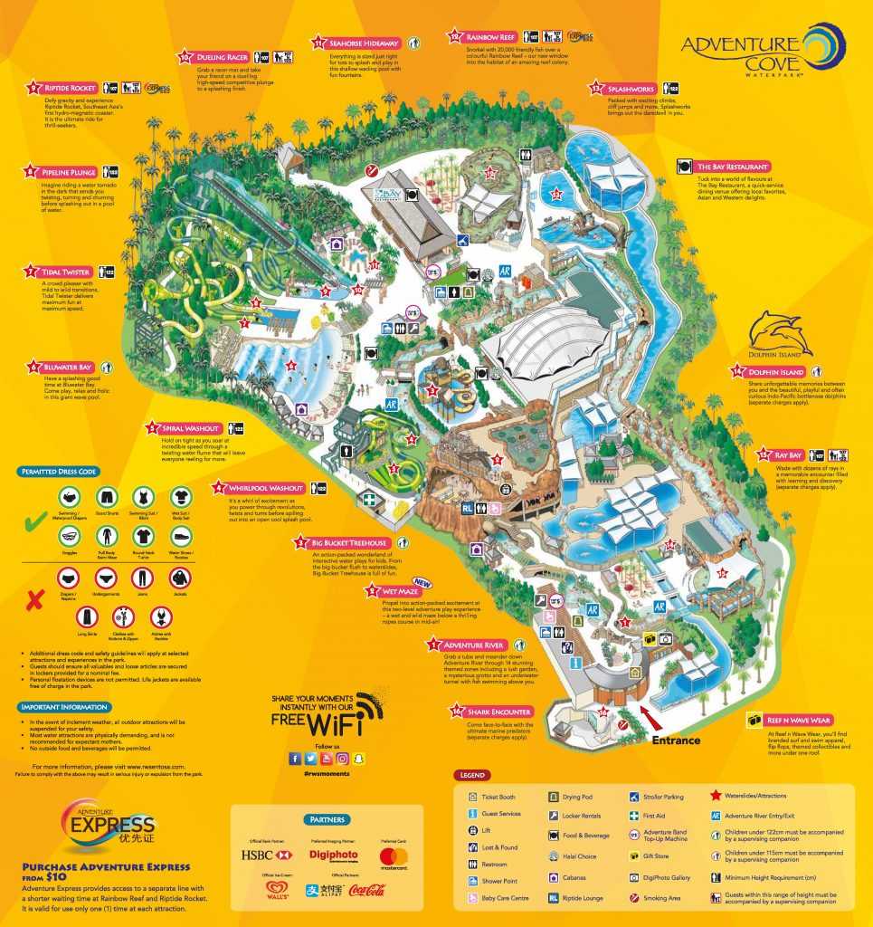 Adventure Cove Waterpar Map English