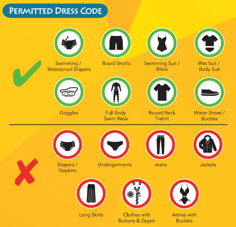 Adventure Cove Waterpark Dress Code