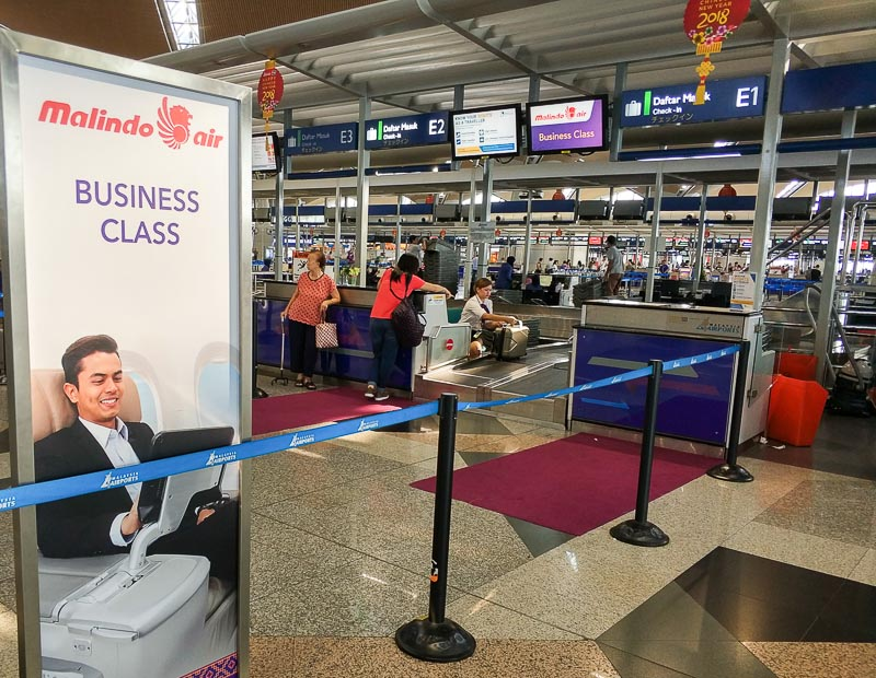 Malindo Air Business Class Check in Counter