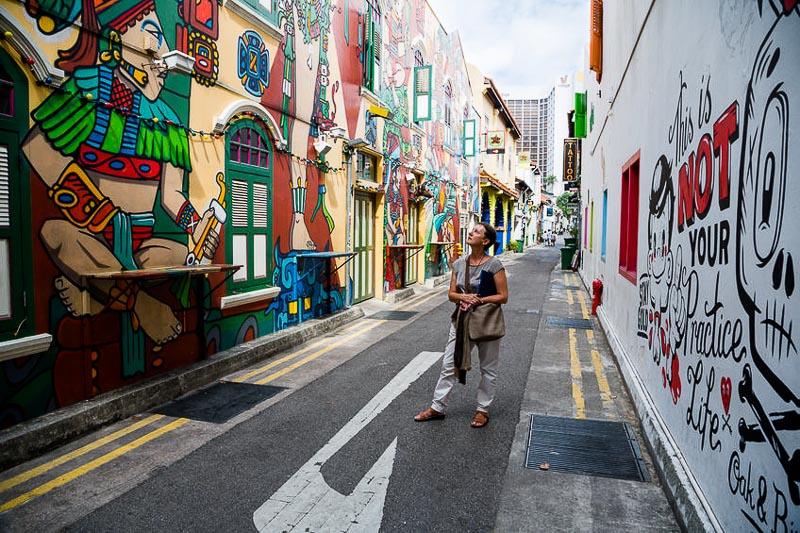 Weekend Itinerary for Budget Travellers in Singapore - haji lane bugis