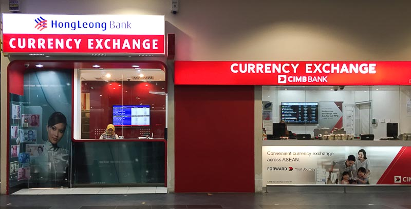 Penang International Airport: money changer