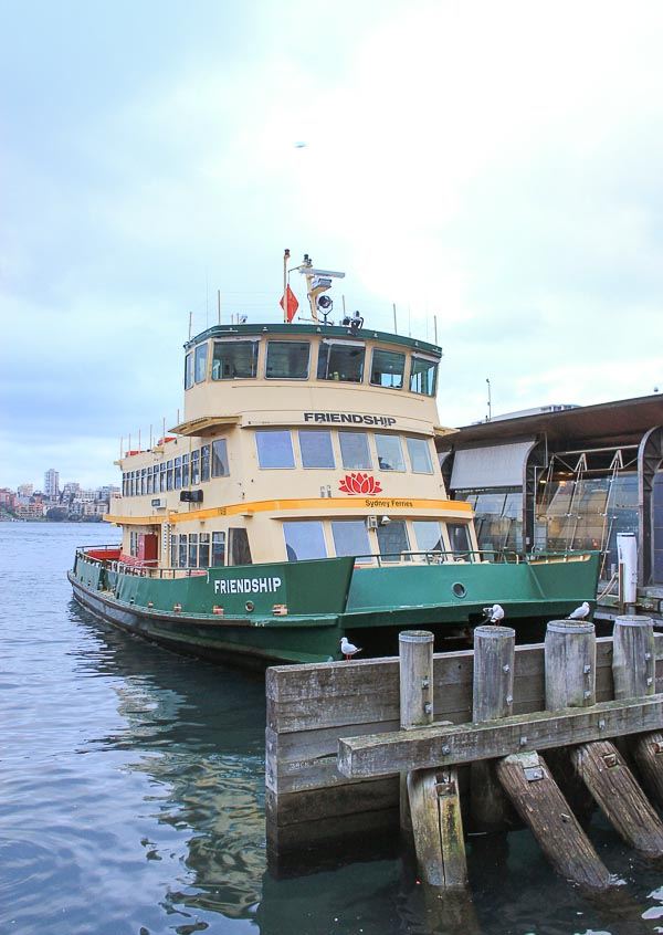 friendship ferry in sydney