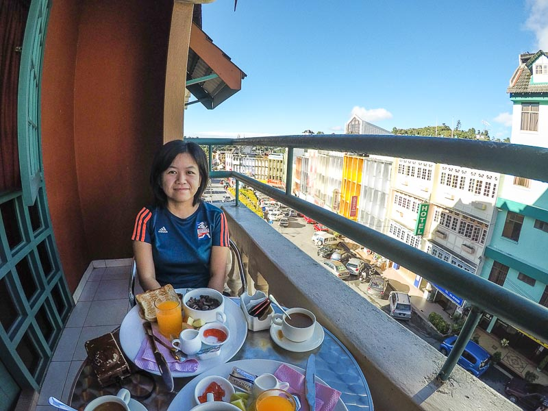 breakfast at hotel check in 2, brinchang, cameron highlands, malaysia