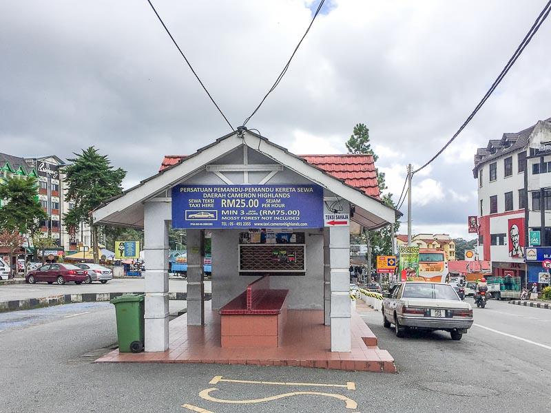 taxi rate in brinchang, cameron highlands, malaysia