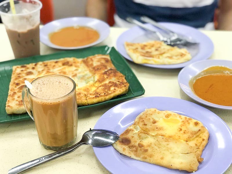 Trevallog favourite food in Singapore - roti prata house