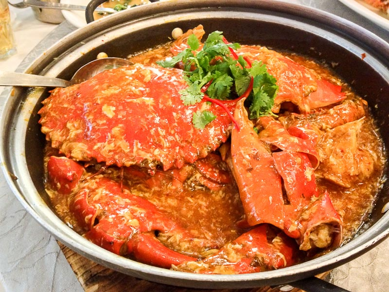 Trevallog favourite food in Singapore - chilli crab jumbo seafood restaurant