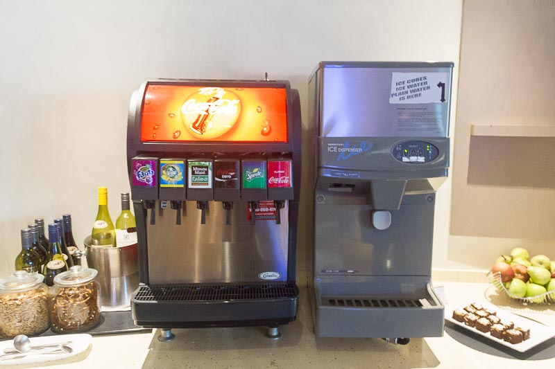 dnata lounge changi terminal 3 food - soft drinks
