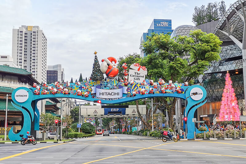 Christmas in Singapore - Orchard Road during day