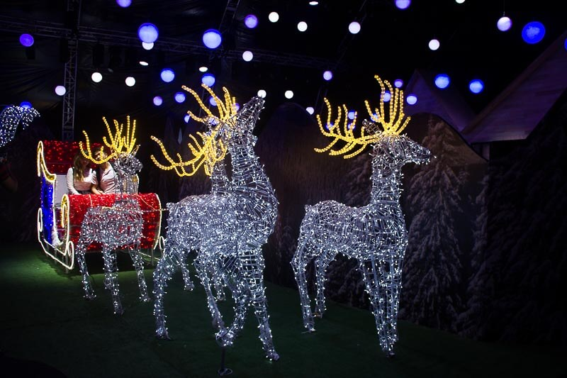 Christmas decoration and lights up in Singapore 2018 - Christmas Wonderland Gardens by the Bay - Santa's Grotto