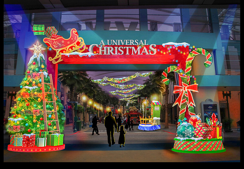Christmas in Singapore - Universal Studios Singapore