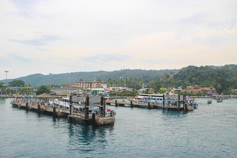 Visiting Phi Phi Island from Phuke Without a Tour - landing at tonsai