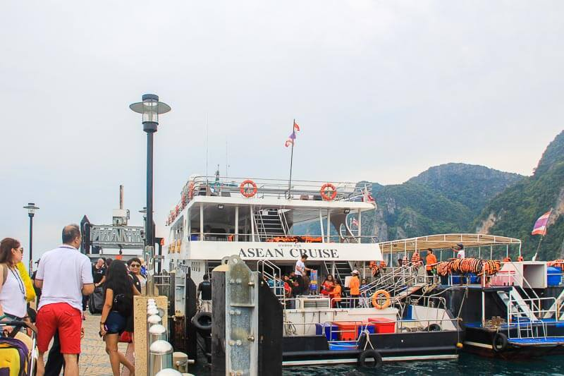 Visiting Phi Phi Island from Phuke Without a Tour - landing at tonsai